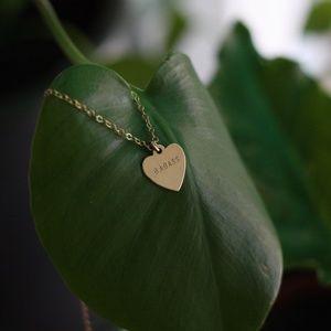 Jewelry - Dainty gold badass heart necklace ETSY